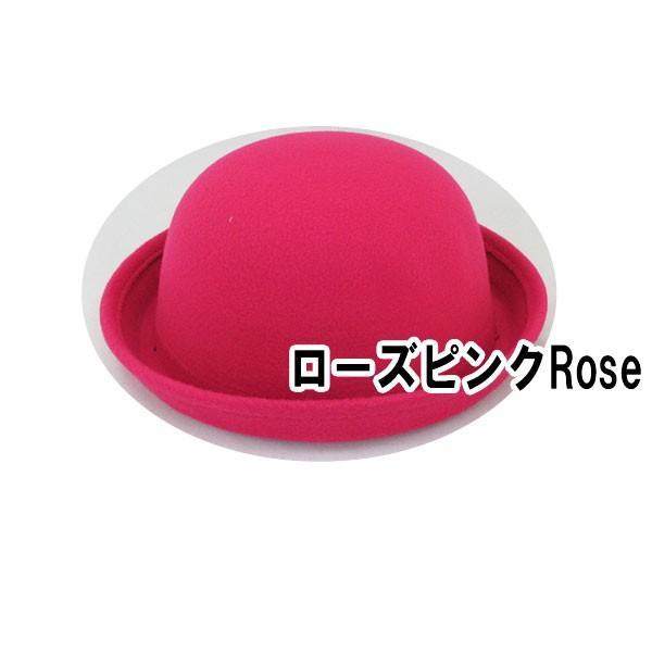 ボーラーハット 帽子 フェルトハット 猫耳 ネコ耳 キッズハット メンズ レディース 子供用 フェルト帽 親子帽子 S M HAT 324|bbdirect|04