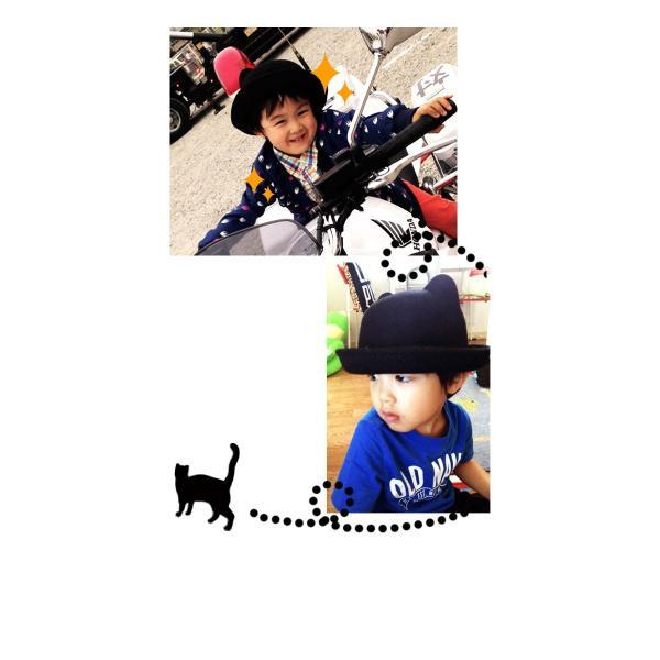 ボーラーハット 帽子 フェルトハット 猫耳 ネコ耳 キッズハット メンズ レディース 子供用 フェルト帽 親子帽子 S M HAT 324|bbdirect|09