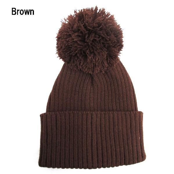 ボンボン付き ニットキャップ 帽子 ビーニー ニット帽 無地 同色 ニットボンボン 帽子 無地 メンズ レディースキャップ 秋 冬 KNIT CAP 4036