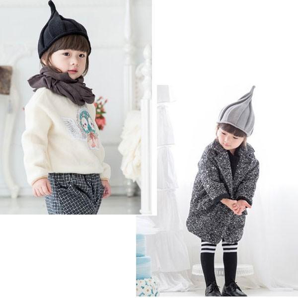子ども用 ニット帽 とんがり帽子 キッズ 帽子 S M 無地 ニットキャップ 親子ペア メンズ レディース 秋 冬 CAP 4901|bbdirect|06