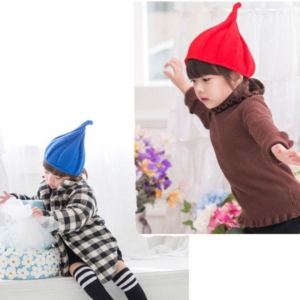 子ども用 ニット帽 とんがり帽子 キッズ 帽子 S M 無地 ニットキャップ 親子ペア メンズ レディース 秋 冬 CAP 4901|bbdirect|08