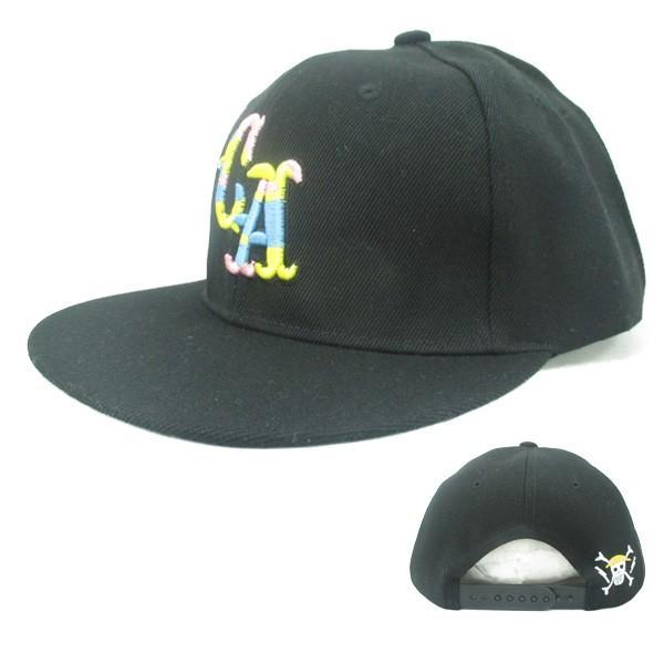 野球帽 La Ca 刺繍 イラスト カラフル B系 ベースボールキャップ メンズ