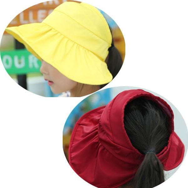 つば広 レディースハット サンバイザー 折りたたみ 帽子 S M キッズハット UVハット UVカット 紫外線カット 日よけ帽子 婦人帽 子ども帽子 SUNVISOR HAT 5503 bbdirect 11
