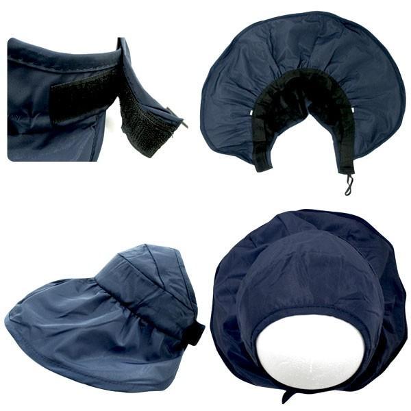 つば広 レディースハット サンバイザー 折りたたみ 帽子 S M キッズハット UVハット UVカット 紫外線カット 日よけ帽子 婦人帽 子ども帽子 SUNVISOR HAT 5503 bbdirect 06