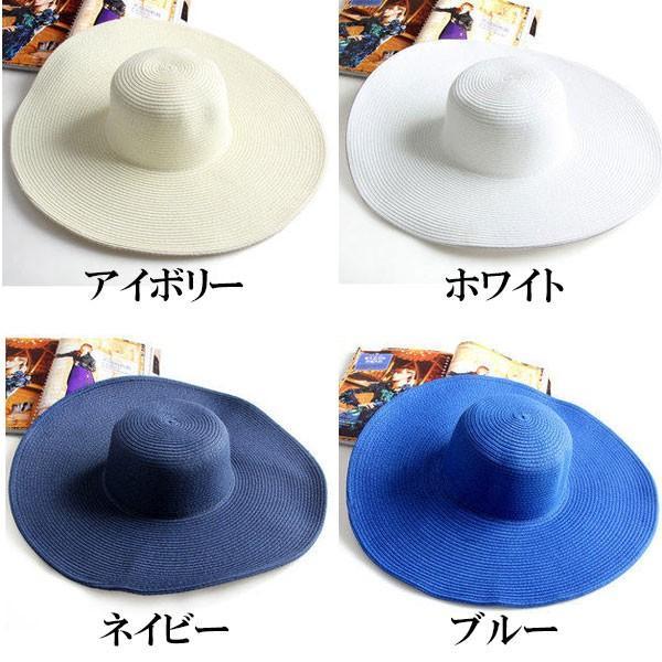 つば広 麦わら帽子 レディースハット 帽子 ストローハット 折りたたみ 大きいサイズ ツバ広 UVカット 紫外線帽子 日よけ帽子 夏 STRAW HAT 6500|bbdirect|03