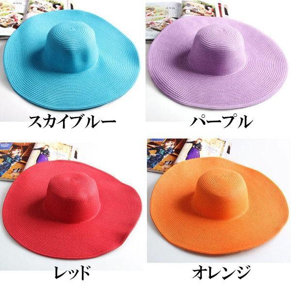 つば広 麦わら帽子 レディースハット 帽子 ストローハット 折りたたみ 大きいサイズ ツバ広 UVカット 紫外線帽子 日よけ帽子 夏 STRAW HAT 6500|bbdirect|04