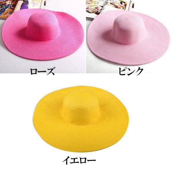 つば広 麦わら帽子 レディースハット 帽子 ストローハット 折りたたみ 大きいサイズ ツバ広 UVカット 紫外線帽子 日よけ帽子 夏 STRAW HAT 6500|bbdirect|05