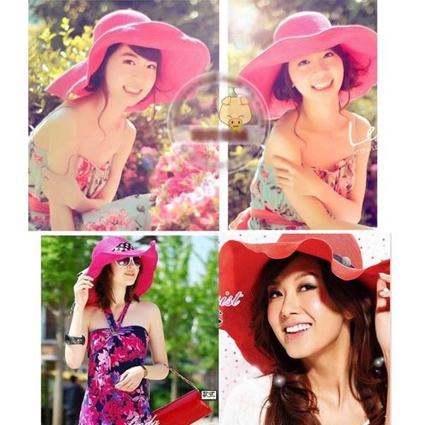 つば広 麦わら帽子 レディースハット 帽子 ストローハット 折りたたみ 大きいサイズ ツバ広 UVカット 紫外線帽子 日よけ帽子 夏 STRAW HAT 6500|bbdirect|07