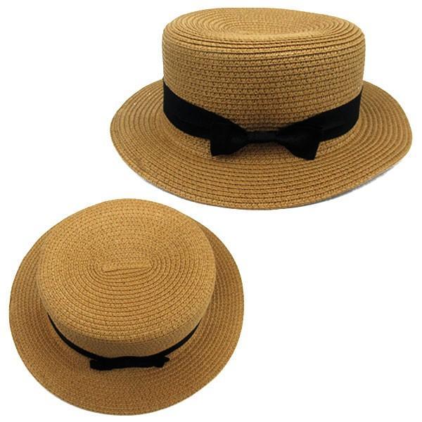 麦わら帽子 カンカン帽 ストローハット リボン付 キッズハット メンズ レディース 子ども用 UVカット 日除け ハット 春 夏 STRAW HAT 6546|bbdirect|04