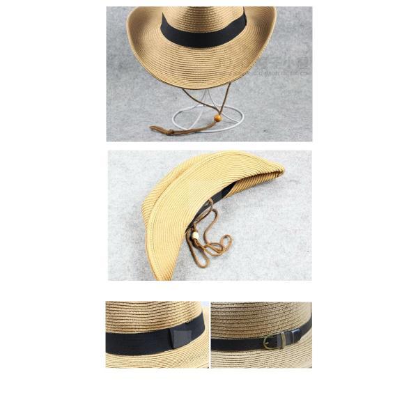 麦わら帽子 S M L XL テンガロンハット 折りたたみ 帽子 つば広 大きい ストローハット UVカット 大きめ 日よけ帽子 子供 キッズ 中折れ メンズ レディース 夏|bbdirect|06