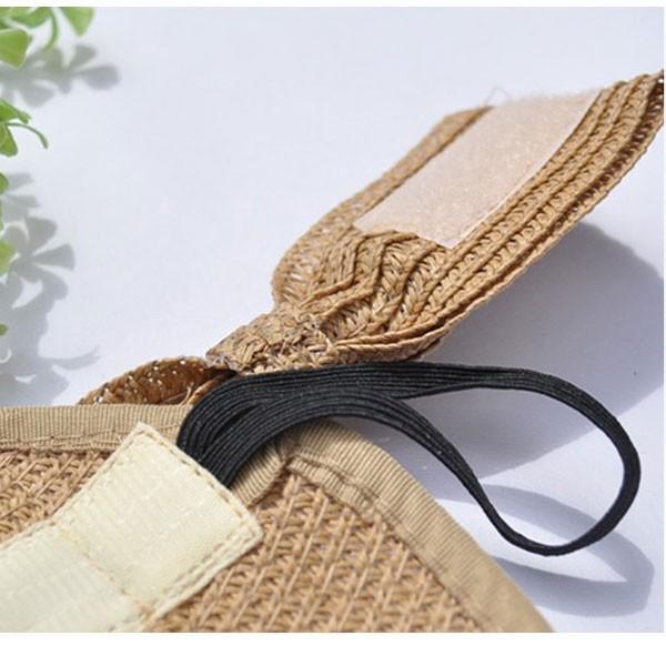 麦わら サンバイザー 帽子 ストローハット リボン付き レディースハット キッズハット 折りたたみ つば広 紫外線防止 UVカット 子供用 春 夏 SUNVISOR 6620|bbdirect|07