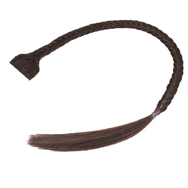 三つ編み エクステ フィッシュボーン 編み込みヘア ウィッグ エクステンション 前髪 ワンタッチ つけ毛 つけ毛 ウイッグ 耐熱 ポイントウィッグ WIG EXT 016|bbdirect|04