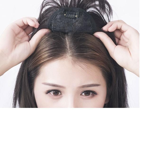 部分ウィッグ ショートストレート ヘアトップピース つむじ付き 前髪ウィッグ シースルーバング ウィッグ トップカバー エクステ つけ毛 かつら WIG MG 003|bbdirect|06