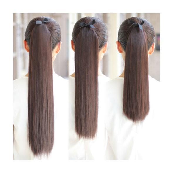 ポイントウィッグ カール ストレート リボン式 ポニーテール エクステ ミディアム セミロング 黒 黒髪 耐熱 付け毛 つけ毛 ウイッグ wig point 003|bbdirect|07