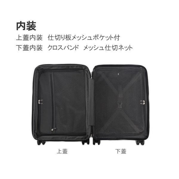 スーツケース Lサイズ 大型 軽量 キャリーケース キャリーバッグ ファスナー TSAロック 大容量 旅行用品 ポリカーボネート bbmonsters 11