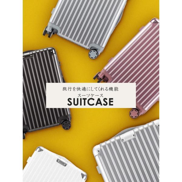 スーツケース Lサイズ 大型 軽量 キャリーケース キャリーバッグ ファスナー TSAロック 大容量 旅行用品 ポリカーボネート bbmonsters 04