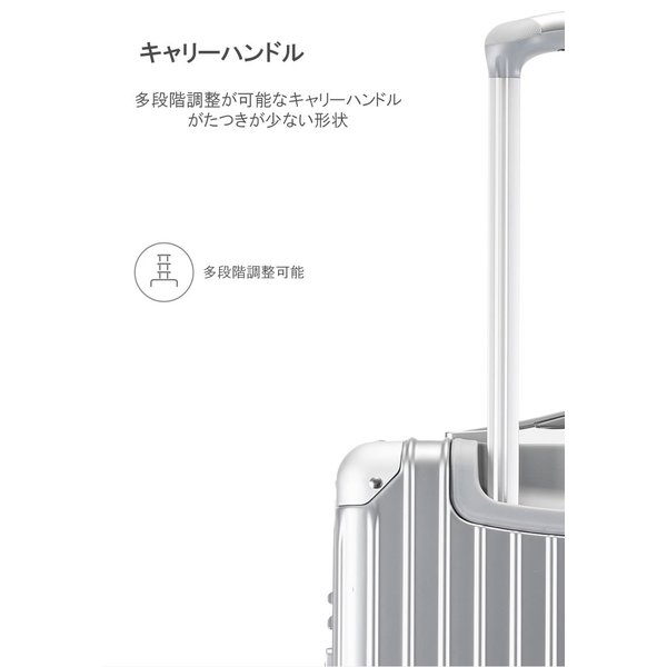 スーツケース Lサイズ 大型 軽量 キャリーケース キャリーバッグ ファスナー TSAロック 大容量 旅行用品 ポリカーボネート bbmonsters 07