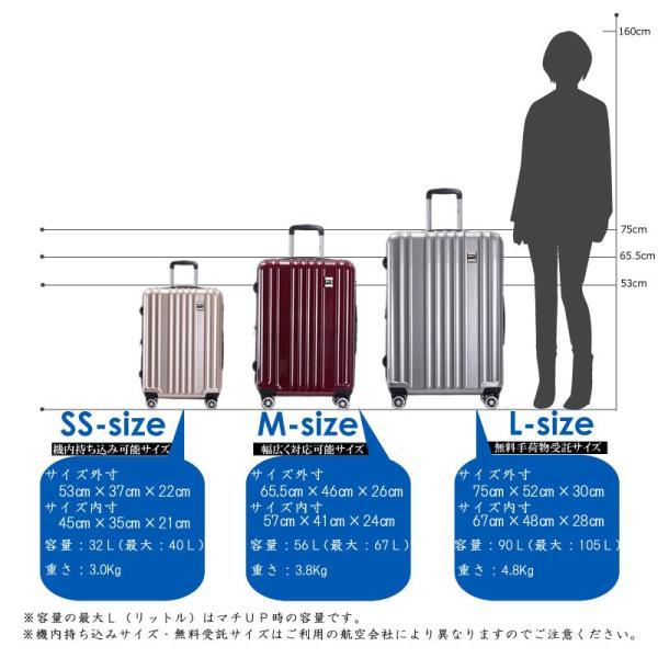 スーツケース Mサイズ 中型 軽量 旅行用品 キャリーバッグ ハードケース ファスナー|bbmonsters|15