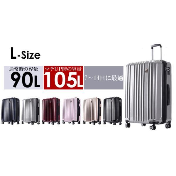 スーツケース Lサイズ 大型 軽量 旅行用品 キャリーケース キャリーバッグファスナー TSAロック 大容量|bbmonsters|05