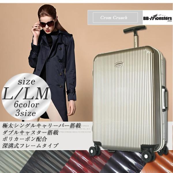 スーツケース 大型 ハードケース キャリーバッグ TSAロック 軽量 アルミフレーム|bbmonsters