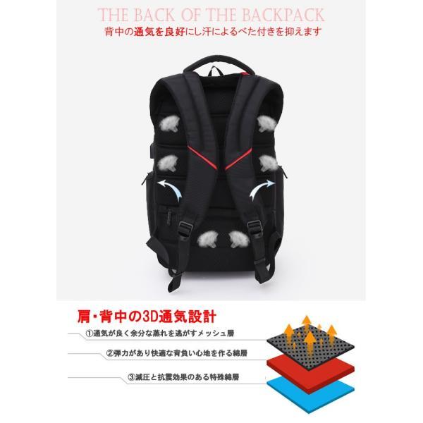 リュック バックパック リュックサック ビジネスリュック デイパック メンズ 旅行バッグ USB ポート付 多機能 PCリュック おしゃれ 大容量|bbmonsters|05