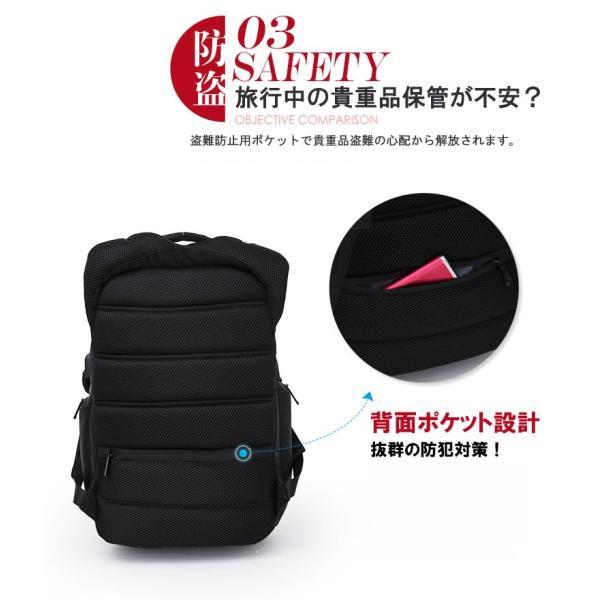 リュック バックパック リュックサック ビジネスリュック デイパック メンズ 旅行バッグ USB ポート付 多機能 PCリュック おしゃれ 大容量|bbmonsters|08