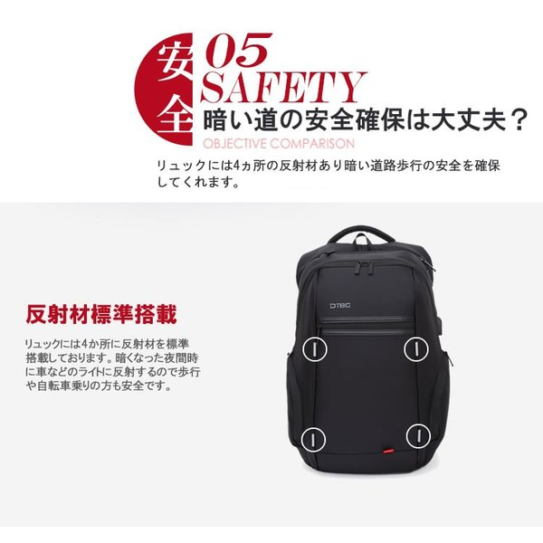 リュック バックパック リュックサック ビジネスリュック デイパック メンズ 旅行バッグ USB ポート付 多機能 PCリュック おしゃれ 大容量|bbmonsters|10