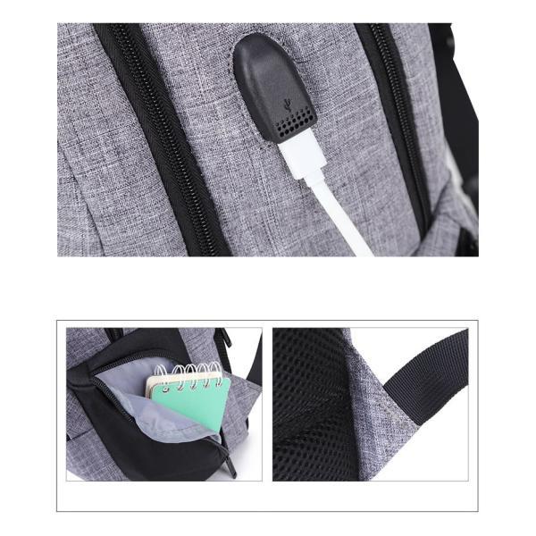 リュック バックパック リュックサック メンズ ビジネスリュック デイパック 旅行バッグ 大容量 USB ポート付 おしゃれ PCリュック|bbmonsters|16