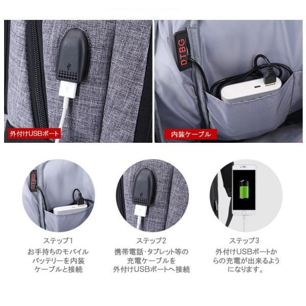 リュック バックパック リュックサック メンズ ビジネスリュック デイパック 旅行バッグ 大容量 USB ポート付 おしゃれ PCリュック|bbmonsters|07