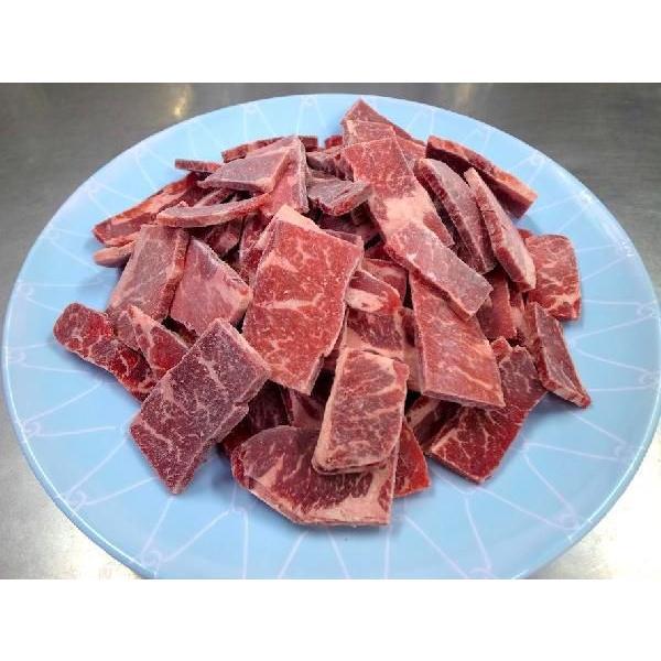 焼肉 カルビ 牛肉 三角バラ 1kg 冷凍 バラ凍結 自家製タレ付属 焼き肉 バーベキュー BBQ|bbq|02