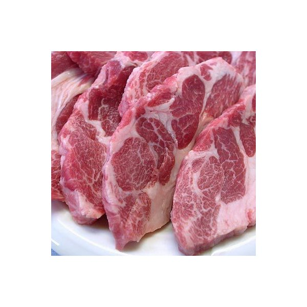焼肉 ジンギスカン 生ラム 肩ロース 500g 冷蔵チルド・真空パック 自家製タレ付属 (BBQ バーベキュー 焼き肉)|bbq