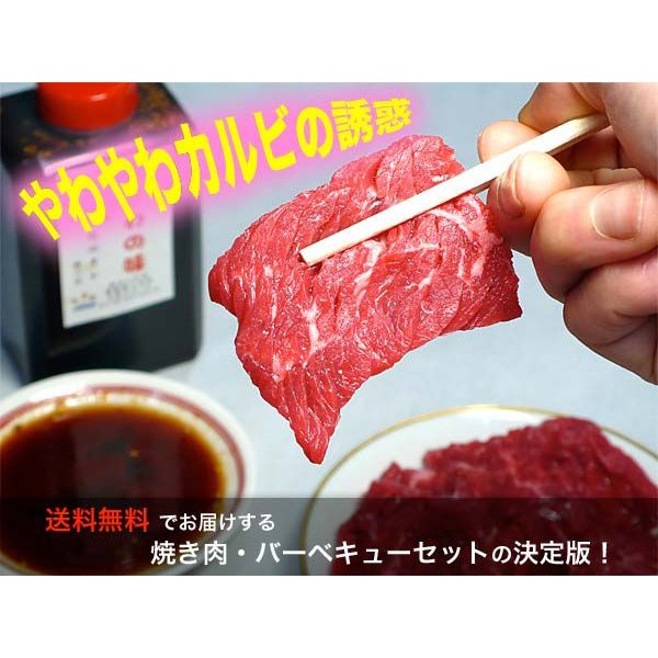 焼肉セット カルビ 牛肉 豚肉 鶏肉 自家製タレ付属 1.4kg 冷凍便発送 (BBQ バーベキュー 焼き肉)|bbq|02