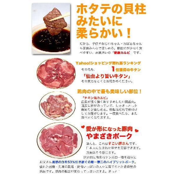 焼肉セット カルビ 牛肉 豚肉 鶏肉 自家製タレ付属 1.4kg 冷凍便発送 (BBQ バーベキュー 焼き肉)|bbq|03