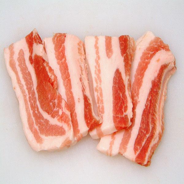 焼き肉 豚肉 国産 豚バラ(やまざきポーク青森県産) 100g 焼き肉用 スライス カット (BBQ バーべキュー)焼肉