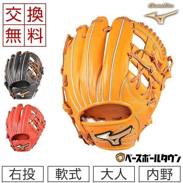 大人用マスクおまけ交換ミズノグローブ野球軟式グローバルエリートHSelection02+プラス内野手用サイズ8右投げ1AJGR2