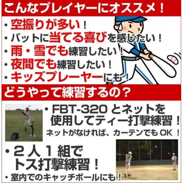バッティング練習ボール 穴あき 20個入り 収納バッグ付き 野球 夜間 FBB-20 フィールドフォース bbtown 05