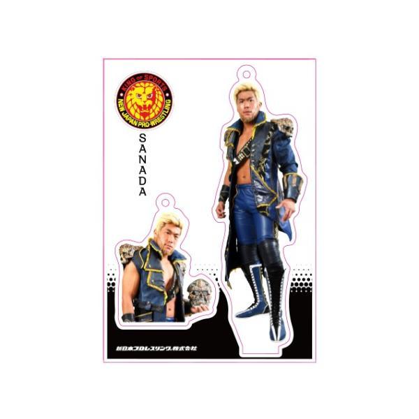 新日本プロレス NJPW フィギュアシートキーホルダー SANADA(3rd model)|bdrop