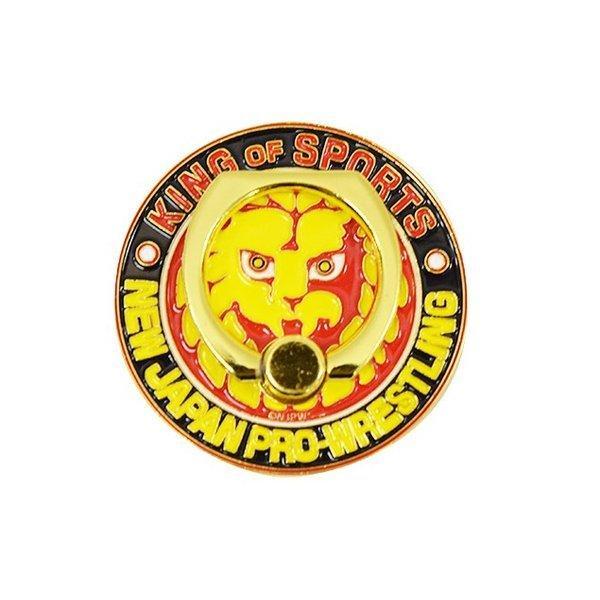 新日本プロレス NJPW ライオンマーク メタルスマホリング bdrop 02