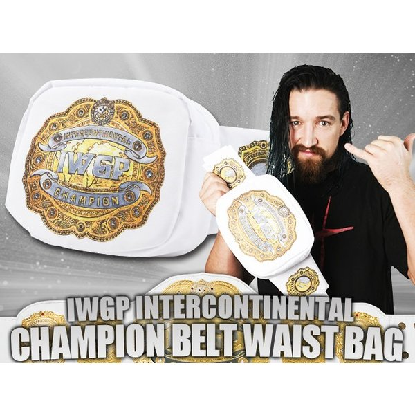 新日本プロレス NJPW IWGPインターコンチネンタルチャンピオンベルト ウエストバッグ|bdrop|07