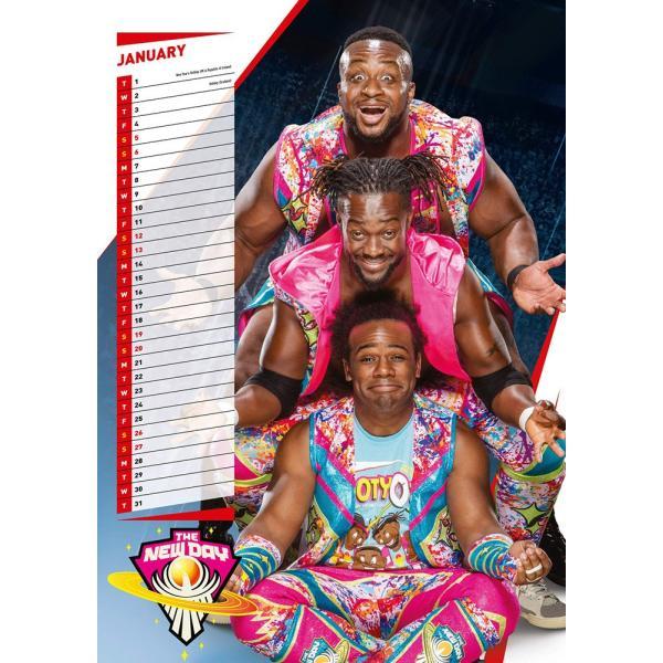 WWE Superstars Euro 2019年壁掛けカレンダー|bdrop|03