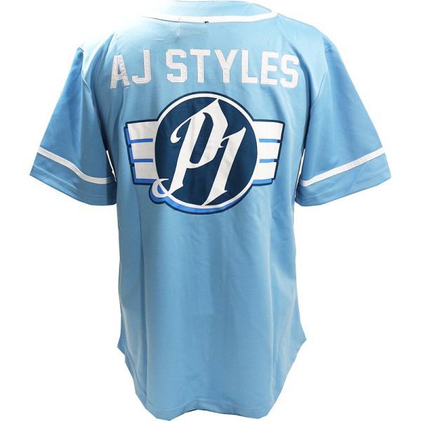 WWE AJ Styles(AJスタイルズ) The Phenomenal One カロライナブルー ベースボールジャージ bdrop 04