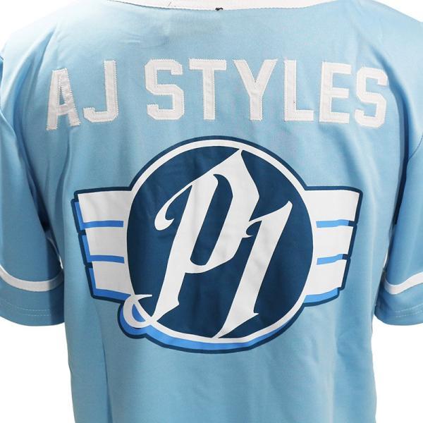 WWE AJ Styles(AJスタイルズ) The Phenomenal One カロライナブルー ベースボールジャージ bdrop 05