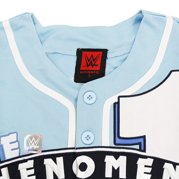 WWE AJ Styles(AJスタイルズ) The Phenomenal One カロライナブルー ベースボールジャージ bdrop 06