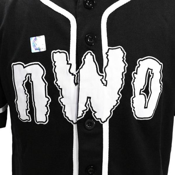 WWE nWo 4 Life ブラック ベースボールジャージ|bdrop|02