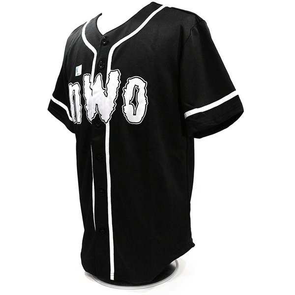 WWE nWo 4 Life ブラック ベースボールジャージ|bdrop|03