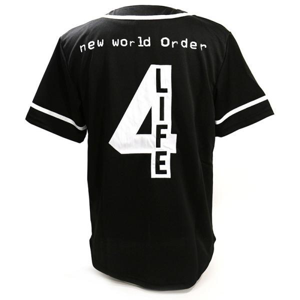 WWE nWo 4 Life ブラック ベースボールジャージ|bdrop|04