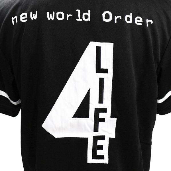WWE nWo 4 Life ブラック ベースボールジャージ|bdrop|05