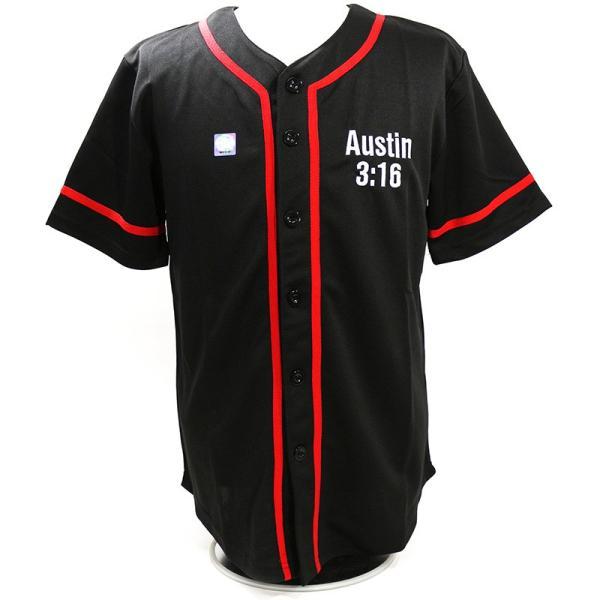 WWE Steve Austin(スティーブ・オースチン) 3:16 ブラック ベースボールジャージ|bdrop