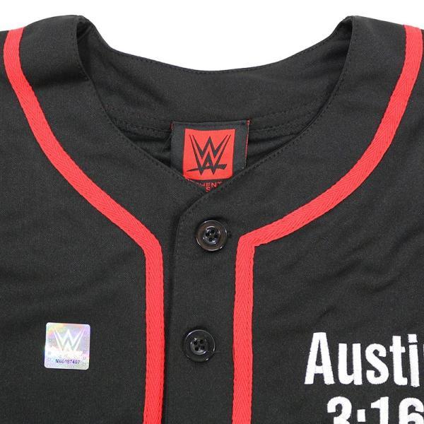 WWE Steve Austin(スティーブ・オースチン) 3:16 ブラック ベースボールジャージ|bdrop|06