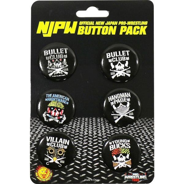新日本プロレス/NJPW Bullet Club(バレット・クラブ) コレクターズ缶バッジ6個セット|bdrop